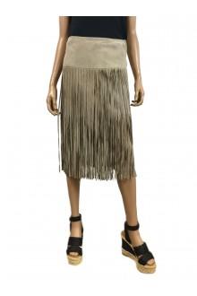 Deja vu skirt with fringes