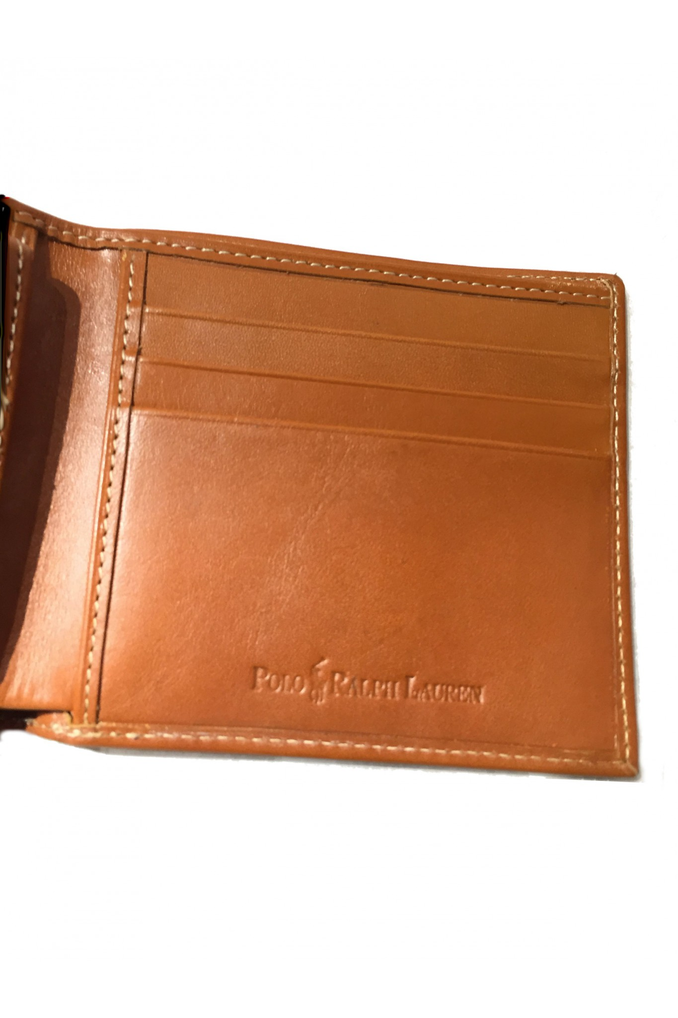 new style ce0bd 5c179 Vendita portafogli da uomo Ralph Lauren in pelle color cuoio ...