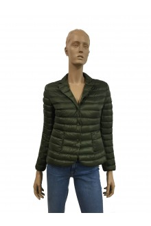 Military green Moncler Leyla down jacket