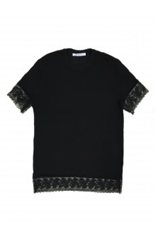 T-shirt Givenchy nera con pizzo