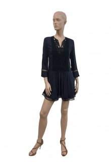 Dondup blue dress with 3/4 sleeves