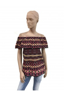 M Missoni multicolored knit flounce top
