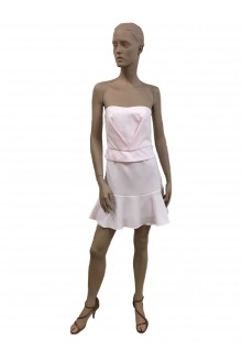 Carven pale pink bustier dress