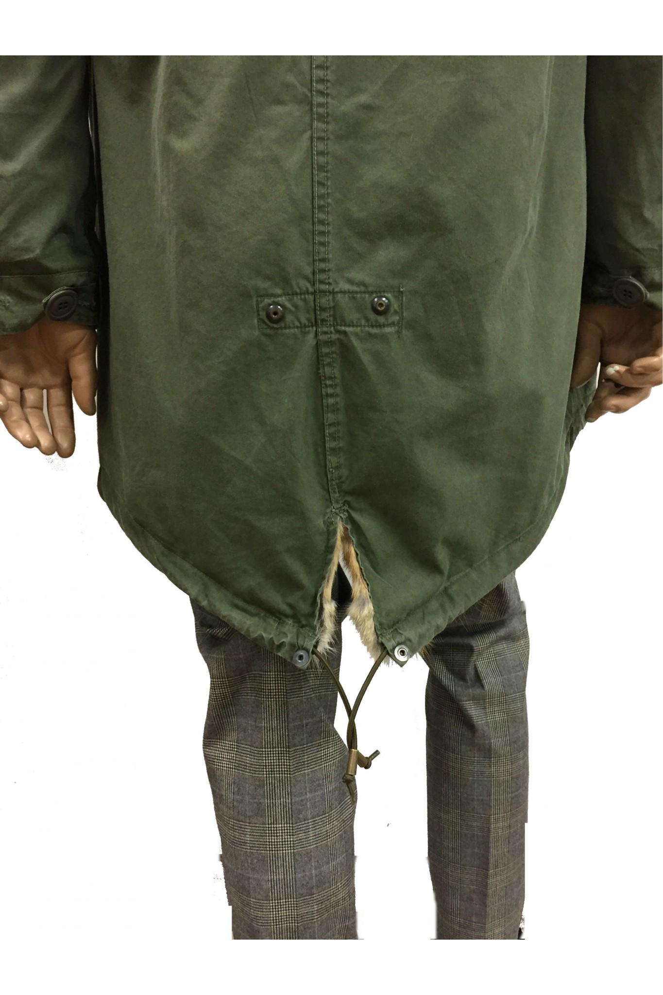 free shipping 0fd09 c9f20 Vendita online Parka militare da uomo vintage in pelliccia ...