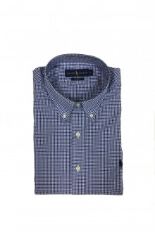 Ralph Lauren checked shirt white, blue and black