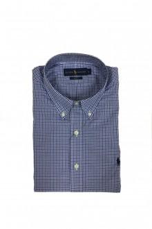 Camicia a scacchi bianca, blu e nera Ralph Lauren