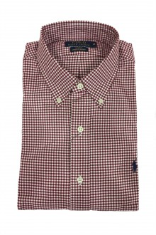 Ralph Lauren checked oxford shirt white and red