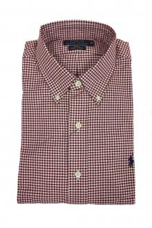 Camicia Ralph Lauren in oxford a scacchi bianchi e rossi