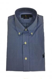 Camicia in fil-à-fil Ralph Lauren azzurro intenso