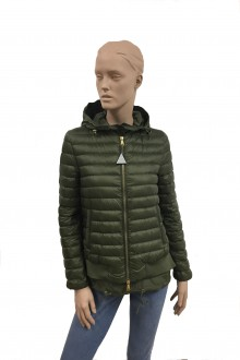 Military green Moncler Honore down jacket