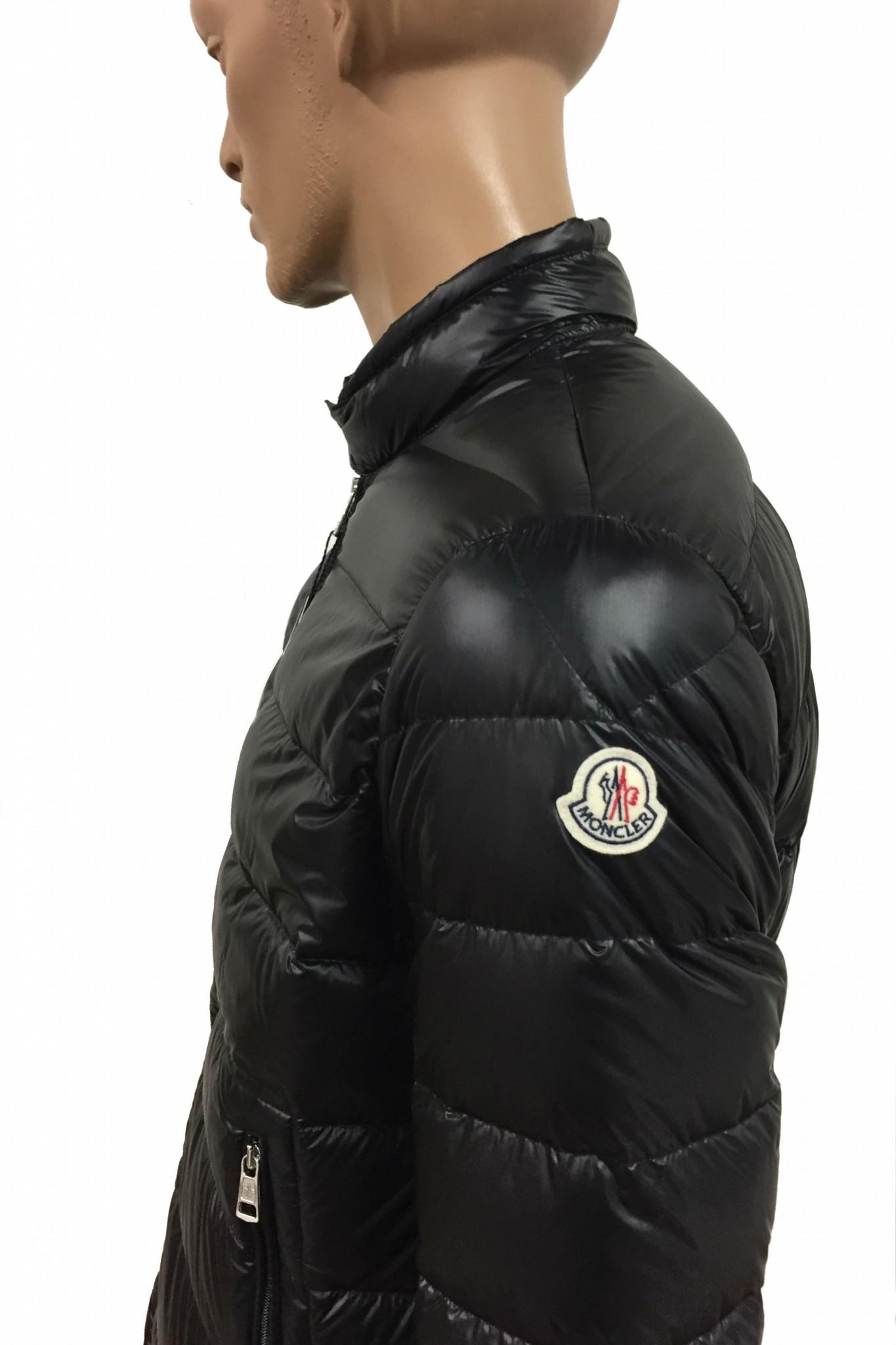 Black Zip Ties >> Shop online Black Moncler Acorus down jacket