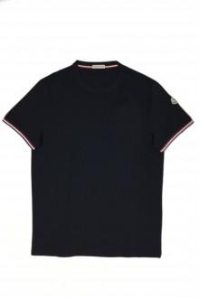 T-shirt tinta unita nera Moncler