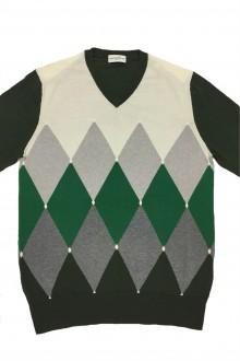 Pullover Ballantyne cotone e cashmere