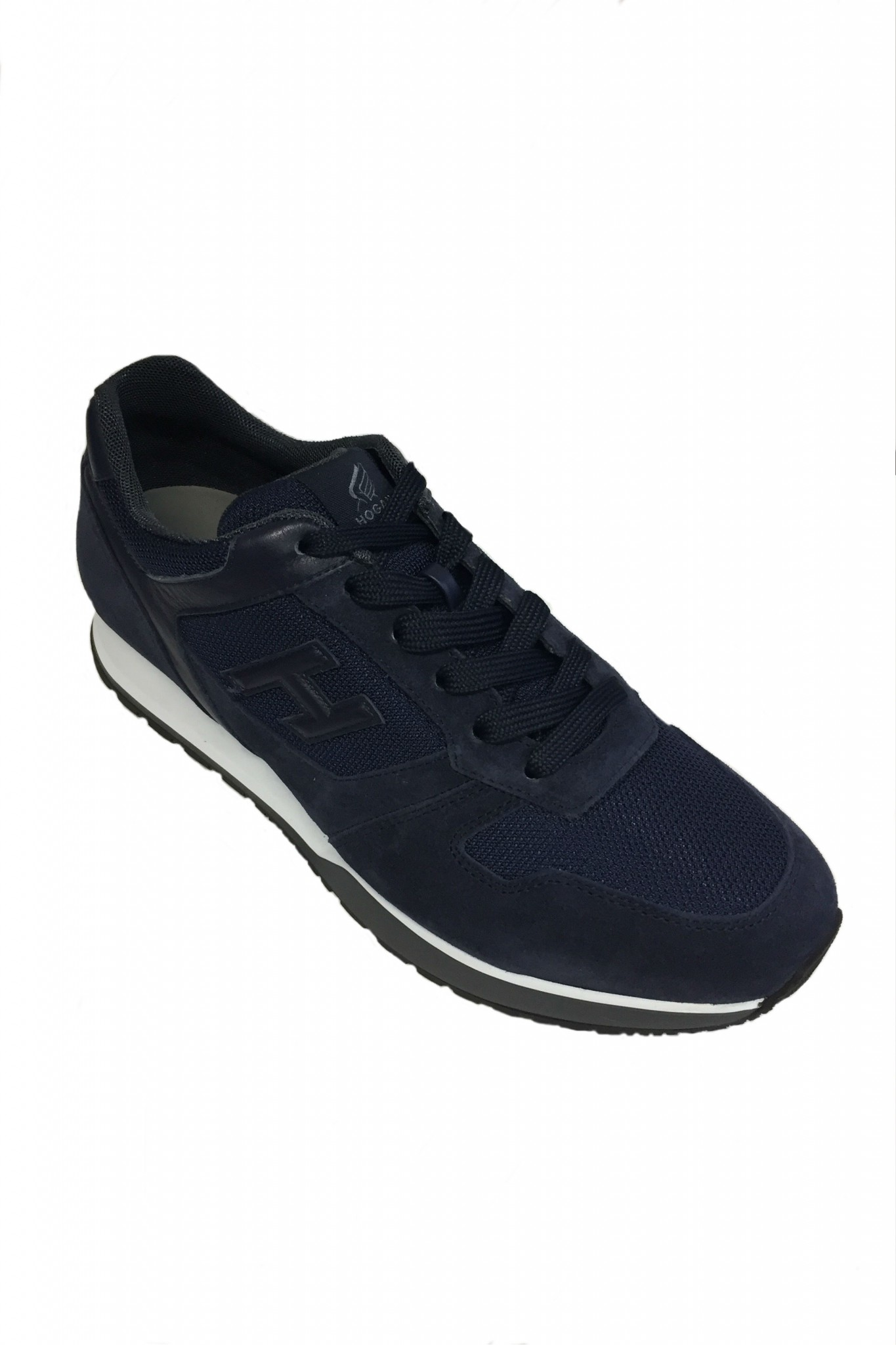 hogan athletic sneakers camoscio blu