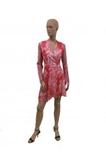 Carven longsleeves floreal red dress