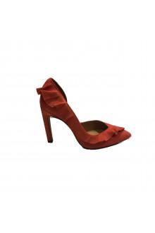 Orange high heel dècolletè Iro