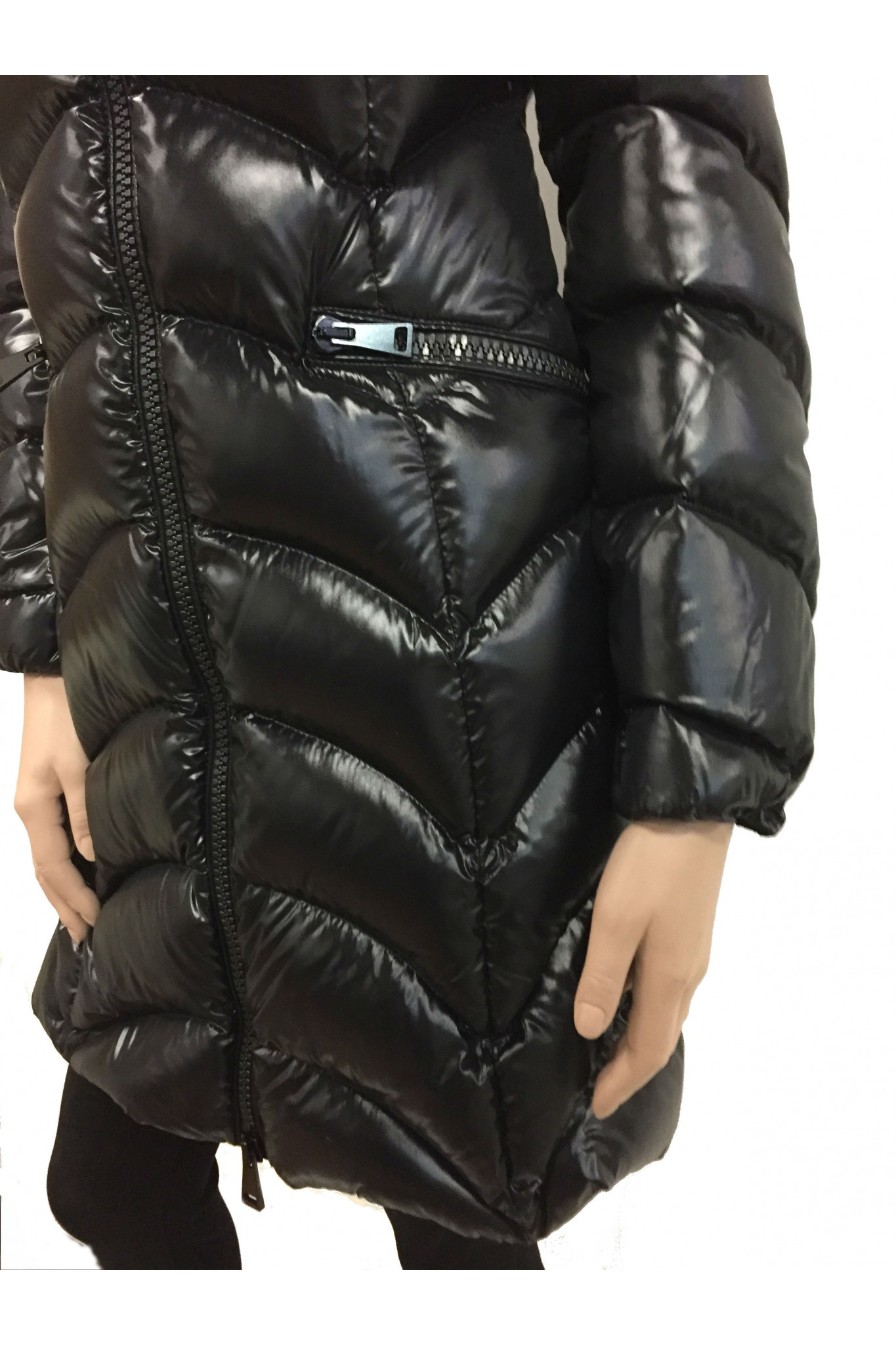 Moncler black down coat Albizia. Previous. Next