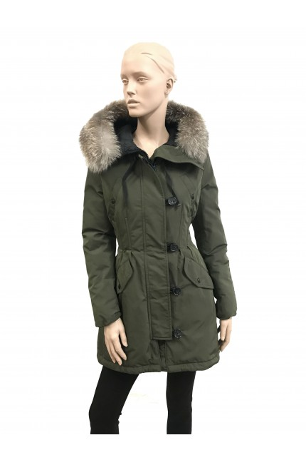 Moncler black down parka