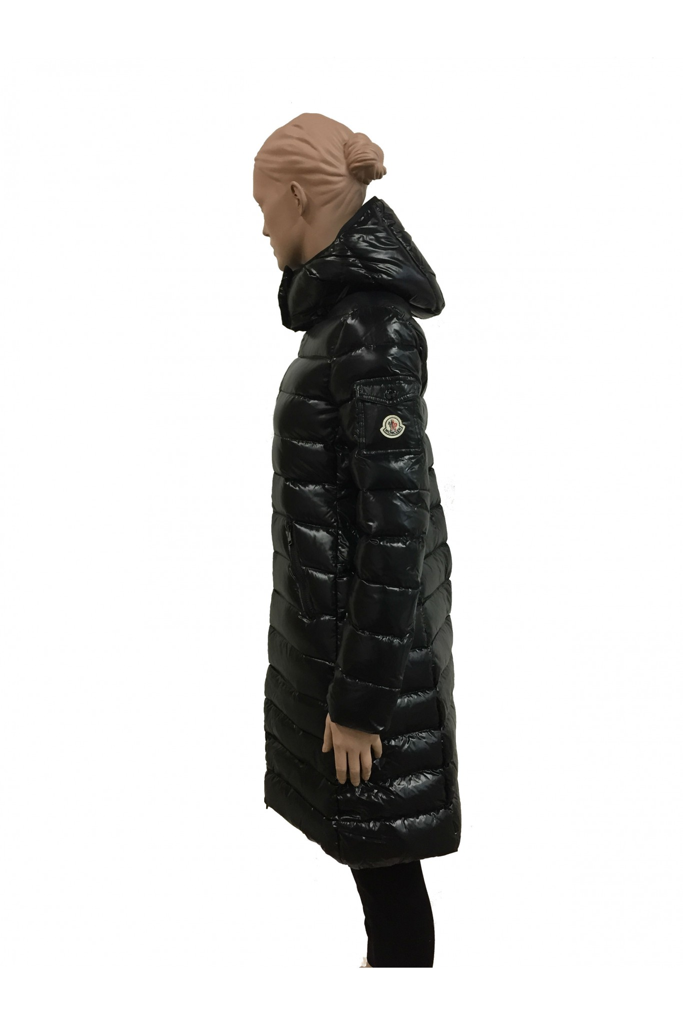 ... moncler black down coat moka. previous