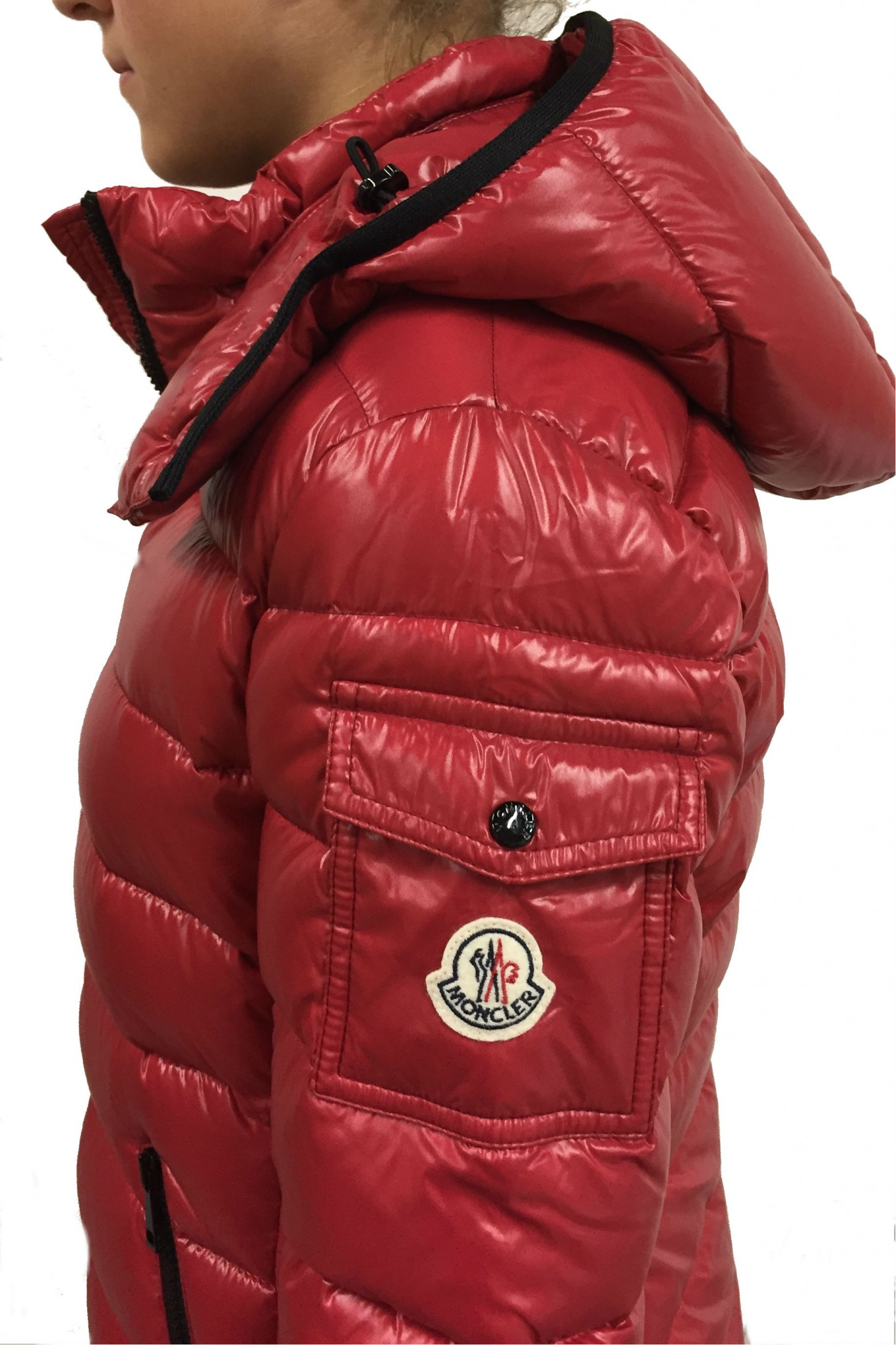 Moncler Bady red down jacket. Previous. Next