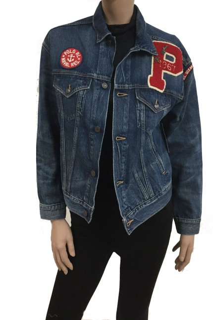Giubbotto jeans Ralph Lauren con patch