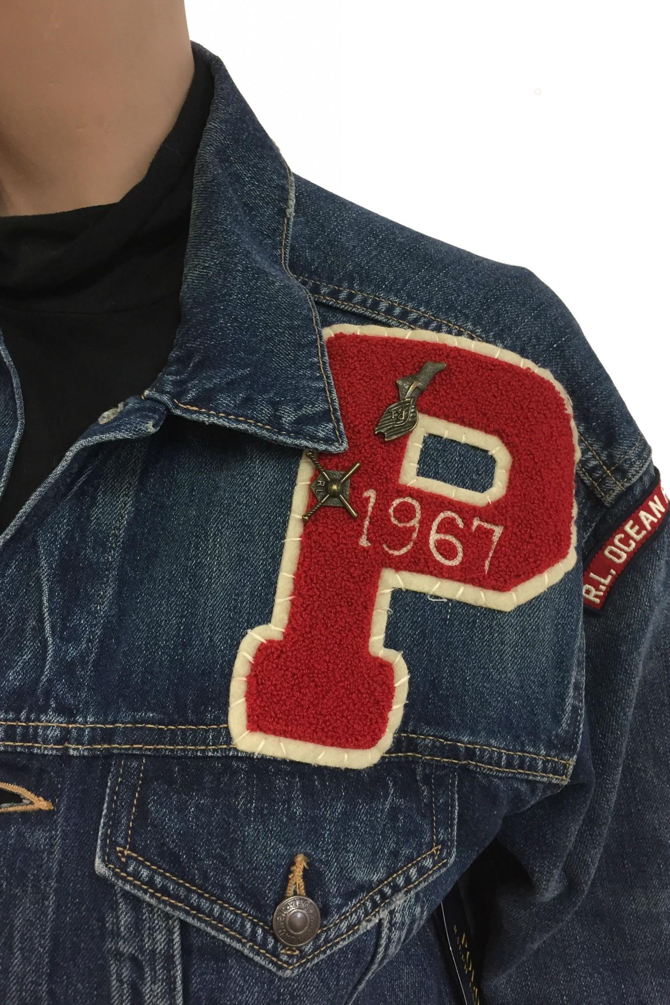 more photos 7dc05 b8535 Shop online Ralph Lauren denim jacket with patches.