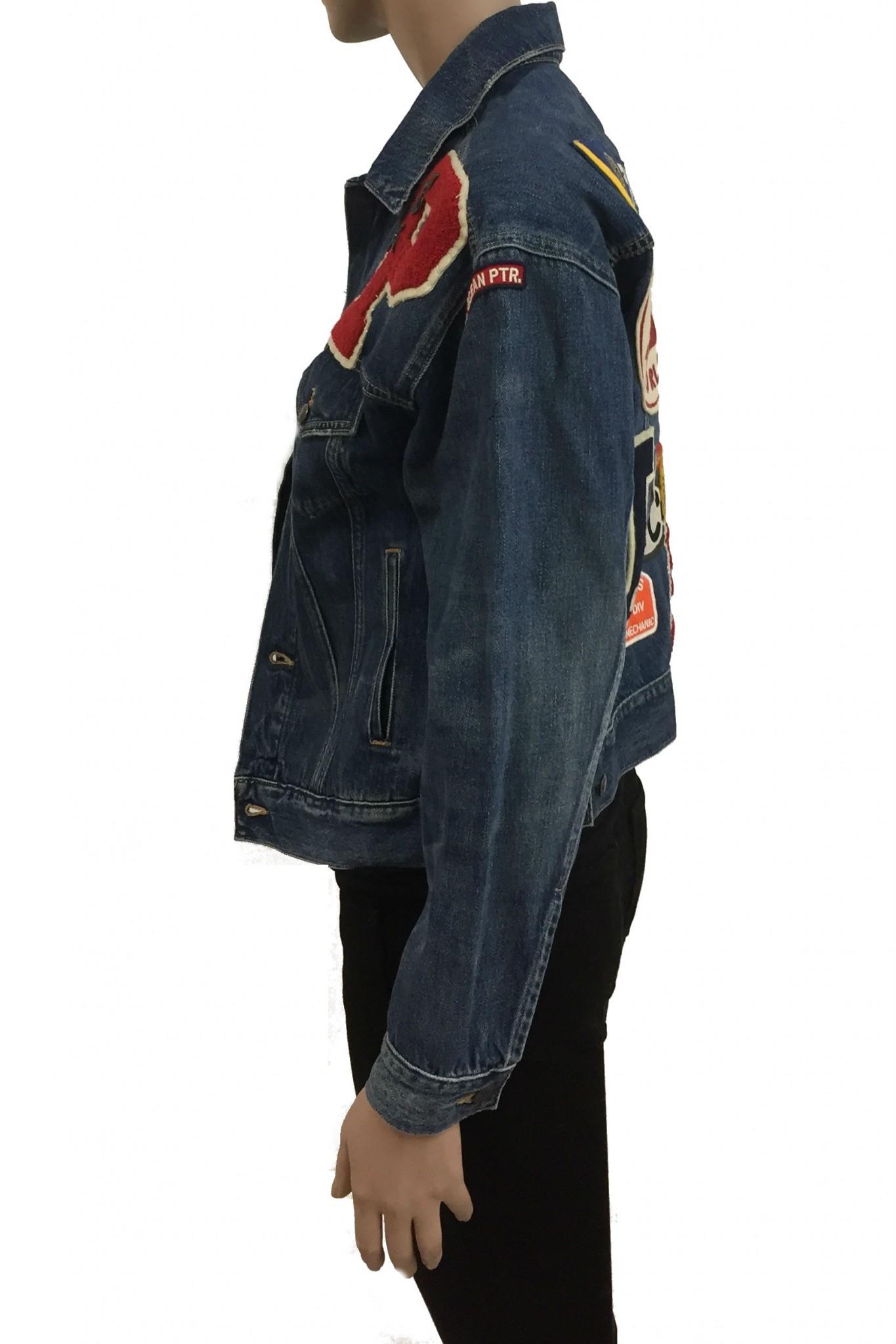 more photos 948b5 a3748 Shop online Ralph Lauren denim jacket with patches.
