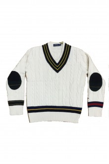Ralph Lauren cream cable-knit pullover