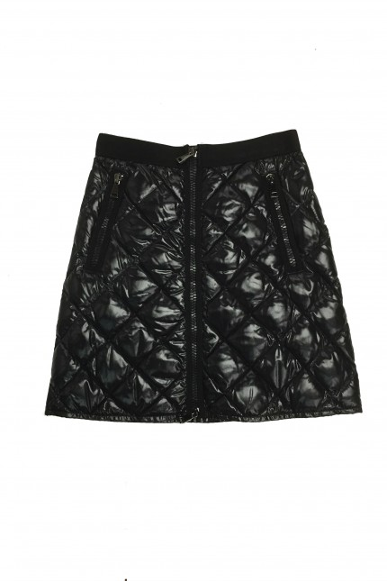 Moncler black down padded skirt