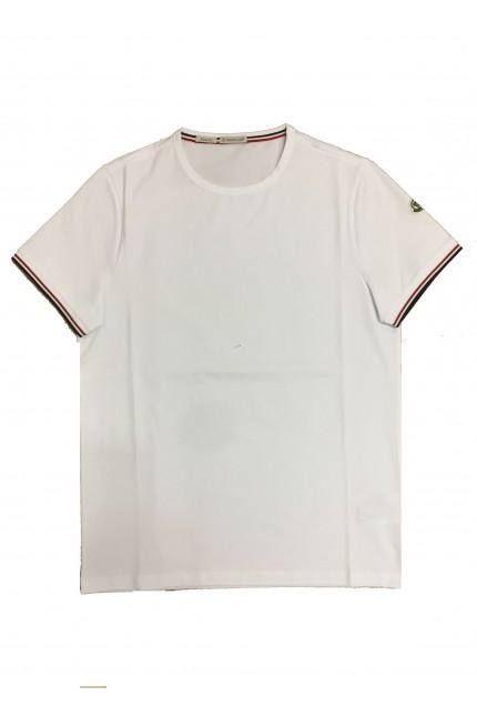 T-shirt tinta unita bianca Moncler