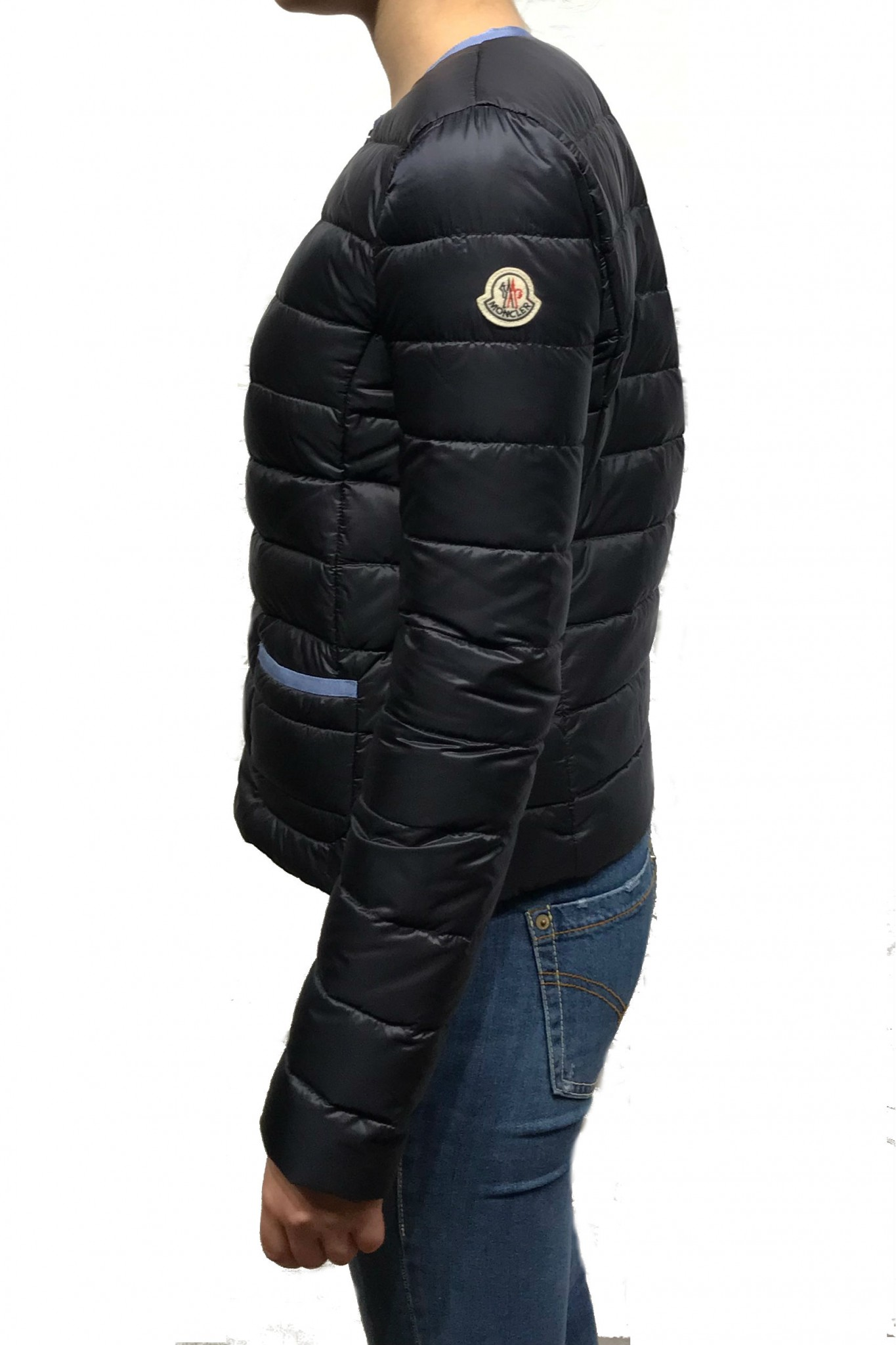 Moncler Cristal blue down jacket. Previous. Next