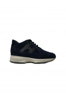 Hogan New Interactive blue suede shoes