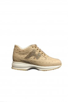 Hogan  Interactive beige leather shoes