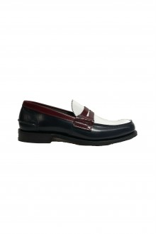Church's Pembrey navy white and cherry loafer