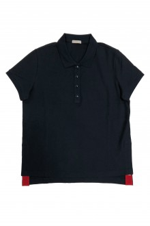 Moncler blue and red polo-shirt