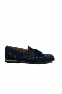 Church's slip-on with studs light blue