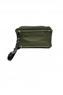 "Givenchy mini bicolor verde militare""Pandora"" pouch"