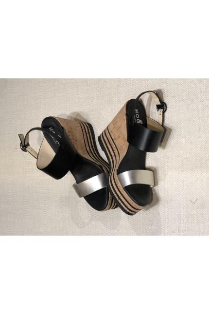 Sandalo Hogan H361 nero e platino