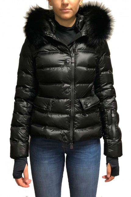 Piumino Moncler Armotech Fur Grenoble nero