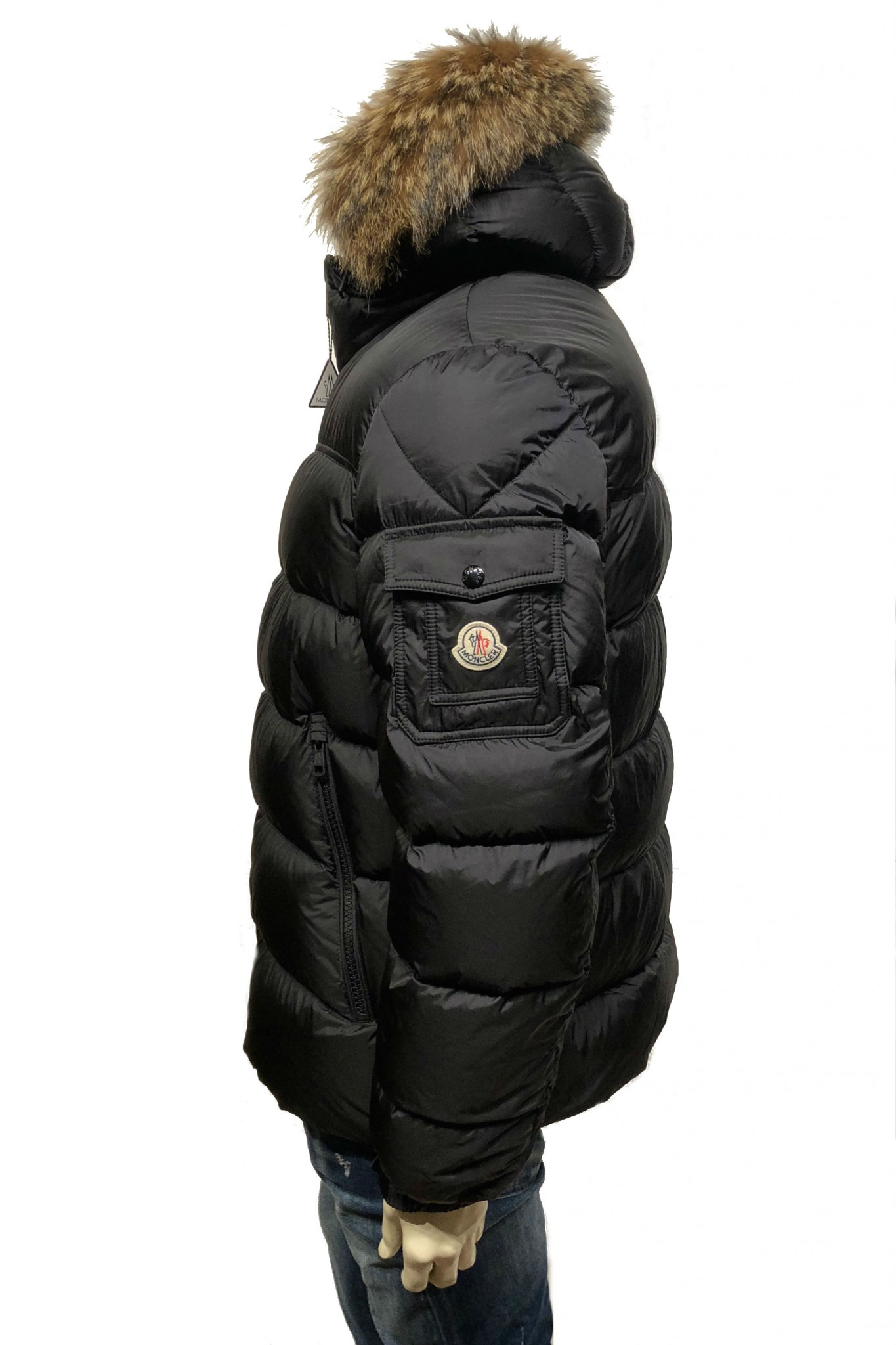 Shop online black Marque down jacket Moncler 0a11d15828b