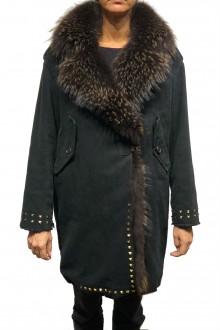 Cappotto nero con borchie Bazar Deluxe