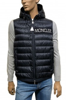Gilet Moncler Laruns Blu