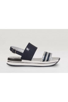 Hogan silver/blue sandal H222