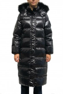 Ciesse Leicas long black Down coat