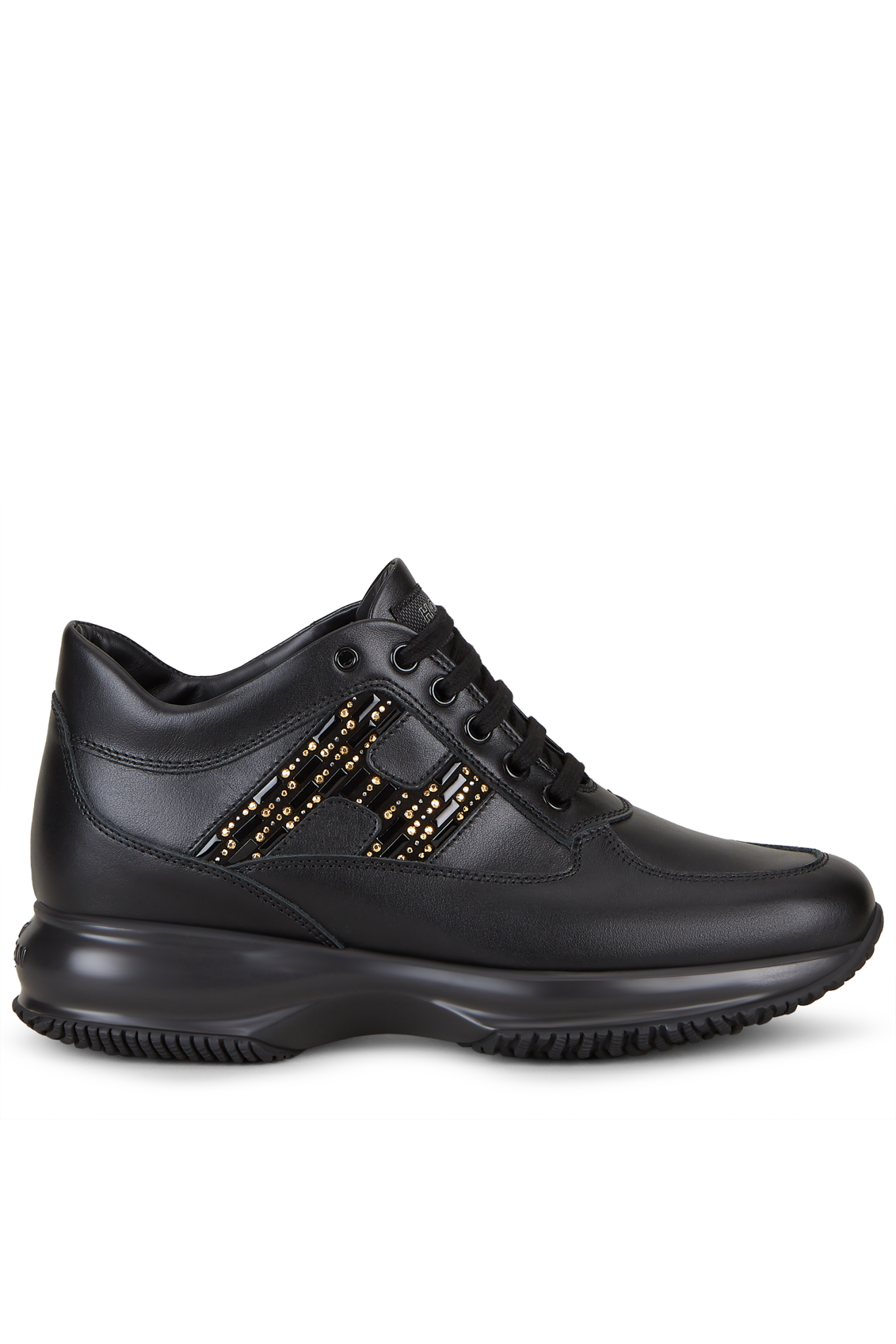 Vendita online scarpe Hogan Interactive in pelle nera da donna.