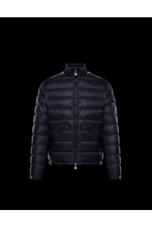 Blue Moncler Agay down jacket
