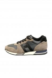Sneakers Hogan H383 Running nera e grigia