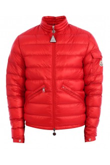 Red Moncler Agay down jacket