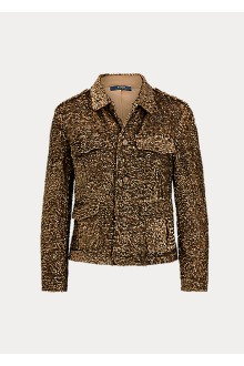 Giacca in paillettes bronzo Ralph Lauren