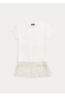T-shirt manica corta in cotone  Ralph Lauren con frange